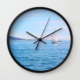 Blue Sailing Wall Clock