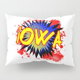 Iowa Comic Exclamation Pillow Sham