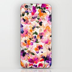 Chic Floral Pattern Pink Orange Pastel Watercolor iPhone & iPod Skin