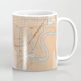 Vintage Map of Edmonton Canada (1915) Coffee Mug