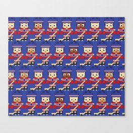 Super cute sports stars - Ice Hockey Blue and Red Canvas Print