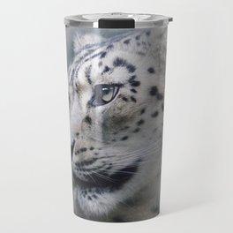 Snow Leopard profile Travel Mug