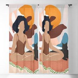 Yoga Girl Blackout Curtain