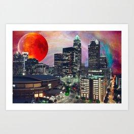 Charlotte Space Skyline 2 Art Print