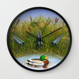 Sitting Duck Wall Clock