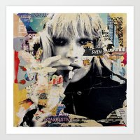kate moss Art Prints featuring Kate Moss by Michiel Folkers