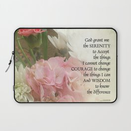 Serenity Prayer Bouquet Laptop Sleeve