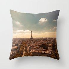 Paris 3 Throw Pillow