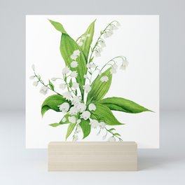 White Lilly Bouquet Mini Art Print