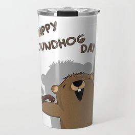 Groundhog day Travel Mug