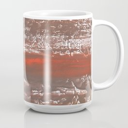Orange Gray vague watercolor Coffee Mug