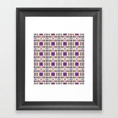 Retro Bar Pattern Framed Art Print