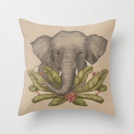 Borneo Pygmy Elephant Throw Pillow