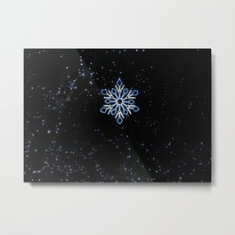 Ice Blue Light - Selective Coloring Metal Print