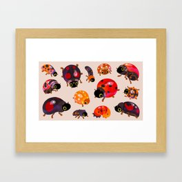 Lady beetles Framed Art Print