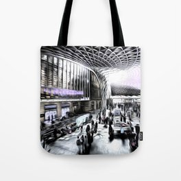 Kings Cross Station London Art Tote Bag