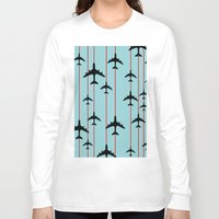 planes Long Sleeve T-shirts featuring Planes by Frances Roughton