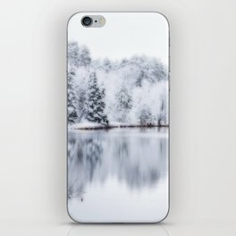 White Wonder Reflection iPhone Skin