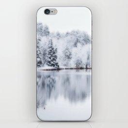 White Wonder Reflection iPhone Skin