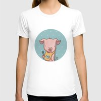 piglet T-shirts featuring Hungry Piglet by Hop & Flop