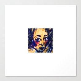 Red Cheeks Woman Canvas Print