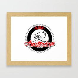 Ajax hooligan crest Framed Art Print