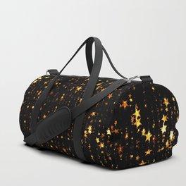 Golden Stars Sparkling Night Christmas Pattern Duffle Bag