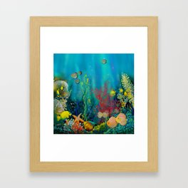 Undersea Art With Coral Framed Art Print