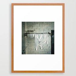 who is left Framed Art Print