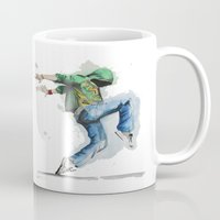 dancing Mugs featuring dancing by digiartpicture