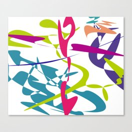 Curved tangram Canvas Print