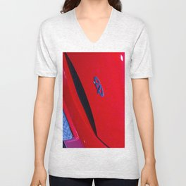 Chery QQ Electric Front Red Unisex V-Neck