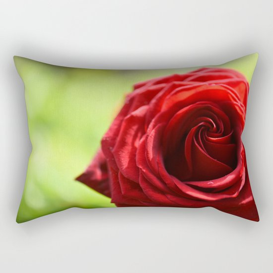 Red rose in LOVE - Roses- Valentine Rectangular Pillow