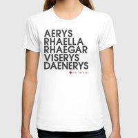 daenerys targaryen T-shirts featuring House Targaryen Typography series II  by P3RF3KT