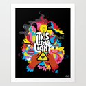 'This Little Light' Giclee Print by komadesign