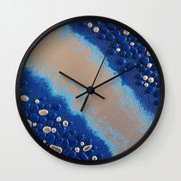 Iridescent Pebbles Wall Clock