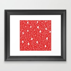 Red Bird Pattern Framed Art Print