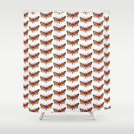 yellow butterflies pattern Shower Curtain