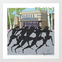 """I'm just gonna run in"" (Bangor Maine Mall) Art Print"