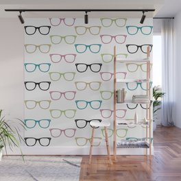 Colorful Funky Glasses Wall Mural