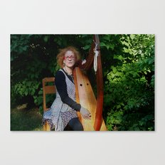 The Harp Player Canvas Print