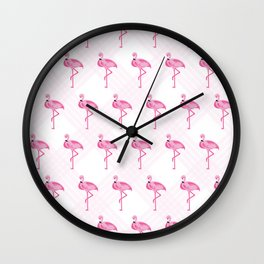 FLAMINGO FUN Wall Clock