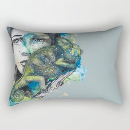cameleon by carographic Rectangular Pillow