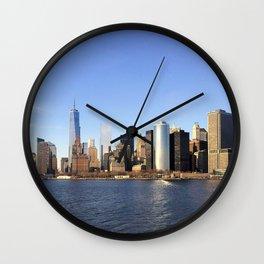 Manhattan seen from the East River Wall Clock