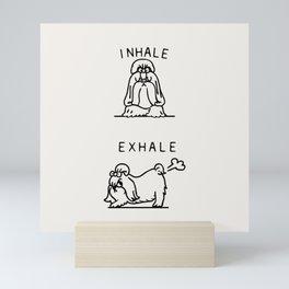 Inhale Exhale Shih Tzu Mini Art Print
