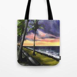 sunset at Boa Viagem Beach Tote Bag