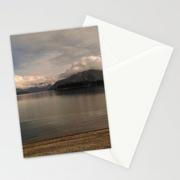 lake wanaka silent capture at sunset in new zealand Stationery Cards