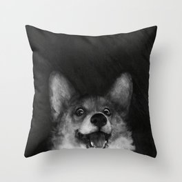Sausage Fox Throw Pillow