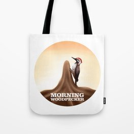 Morning Woodpecker Tote Bag