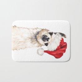 Christmas Llama Bath Mat